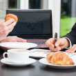 Business people with coffee — Stock Photo
