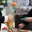 Stockfoto: Meal time in company