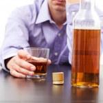 Man drinking whisky — Stock Photo #33204719