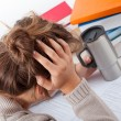 Stock Photo: Student learning difficulties