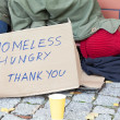 Stock Photo: Homeless hungry poor man