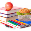 Fresh healthy meal at school — Stock Photo