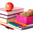 Girlish lunch box with healthy meal — Stock Photo