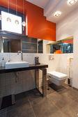 Contemporarary bathroom interior — Stock Photo