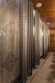 Woodland hotel - curtains — Stock Photo