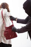 Handbag thief — Stock Photo