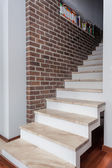 Country home - white staircase — Stock Photo