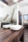 Country home - stylish washbasin — Stock Photo