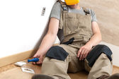 Fatal electric shock injury — Stock Photo