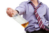 Alcohol addiction — Stock Photo
