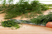 Chopped fresh dill — Stock Photo