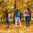 Colorful autumn fun — Stock Photo