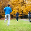 Jogging outdoor — Stock Photo
