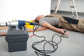 Accident during domestic work — Stock Photo