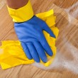 Stock Photo: Mopping up the floor