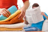 Unfair distribution of household duties — Foto Stock