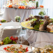 Catering at wedding reception — Stock Photo