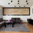 Stok fotoğraf: Urban apartment - Spacious living room