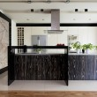 Urban apartment - kitchen furniture — Stock Photo
