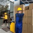 Warehouse workers doing their work — Stock Photo