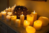 Plenty of lighted candles — Stock Photo
