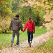 Couple on walk — Stock Photo