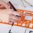 Architect making project — Stock Photo