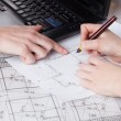 Architects work — Stock Photo