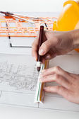 Architect work — Stock Photo
