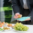 Business lunch with colorful snacks — Stock Photo