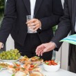 Stock Photo: Business party on open air