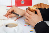 Eat at work — Stock Photo