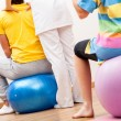 Stock Photo: Pilates in physiotherapy