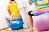 Pilates in physiotherapy — Stock Photo