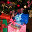 Stack of christmas presents — Foto Stock