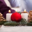Christmas decoration on the table — Stock Photo #35755187