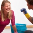 Having fun with household duties — Stock Photo #35756117