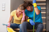 Tiredness after household duties — Stock Photo