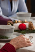 Christmas dinner — Stock Photo
