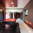Snooker table in luxury interior — Stock Photo