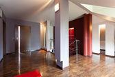 Corridor with wooden floor — Stock Photo
