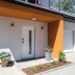 Bright space - door and garage — Stock Photo