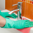 Sink cleaning — Stock Photo #36029279