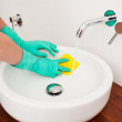 Sink cleaning — Stock Photo