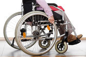 Disabled on wheelchair — Stock Photo