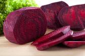 Fresh beetroot cut into slice — Stock Photo