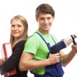 Teamwork in construction company — Stock Photo