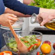 Prepare salad — Stock Photo