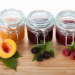 Homemade traditional recipe jams — Stock Photo