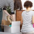 Women packing things — Stock Photo